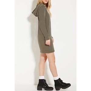 Forever 21 | Olive Long-Length Hoodie Dress